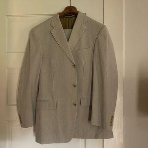 Other - Ibiza Men's Seersucker suit 42 Jacket / 36 L pants